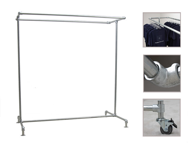 Freestanding Clothing Rack - Double
