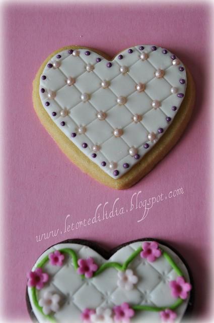 Biscotti decorati:Romantici cuori