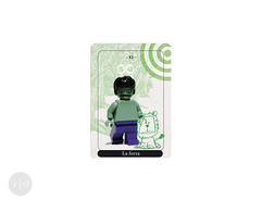 XI Strength (la Forza) (veronica.duriavig) Tags: major lego card tarot forza gandalf hulk hermit playingcards arcana carte strenght tarocchi eremita maggiori tarocco cartedagioco arcani
