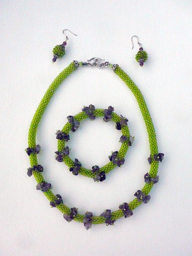 lilac and  green set