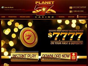 Planet 7 Casino Home