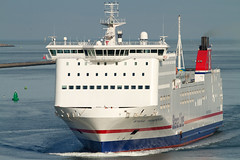 Stena Transporter (MarkCantPark) Tags: blue red sea white holland ferry canon river boat is waves sailing ship yacht wave vessel line bow 7d netherland cruiseship sail l 300 van hook current roro waterway transporter stena f40 hoek