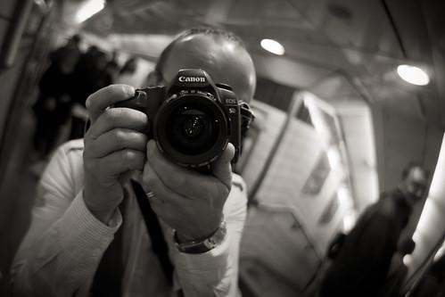 566/1000 - Self Portrait on the Underground by Mark Carline