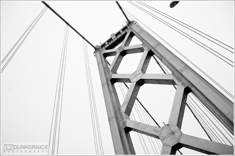 Bay Bridge B&W.