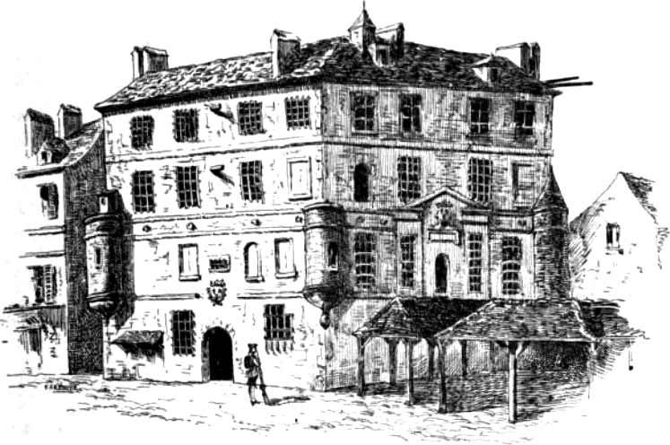 Prison de l'abbaye en 1793, Paris Révolutionnaire, G. Lenotre (1895)