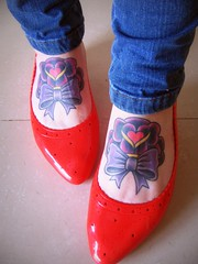 MELISSA ( miss vani) Tags: cute girl shoes girly melissa tattoos bow ankle tattooed