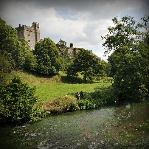 Fly Fishing At Haddon Hall.Nr Bakewell .Derbyshire.England