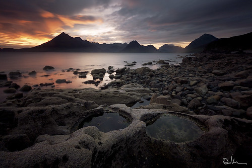 Last Light over the Cullins - Elgol Skye by David Hannah