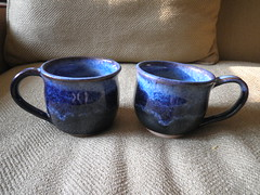 Black Blue Mugs