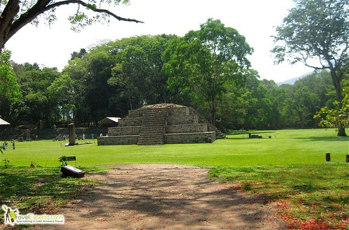 Mayan Ruins Main Plaza Copan Honduras