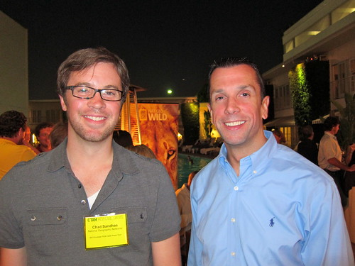 NGC's Chad Sandhas and affiliate marketing partner Casy Schick