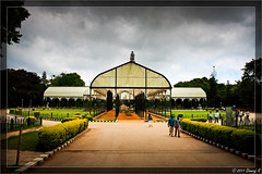 Lal Bagh glass house on a cloudy day (kdinuraj) Tags: india house glass clouds canon flickr rainyday cloudy bangalore greenhouse karnataka glasshouse lalbagh cloudyday 2011 phototools 400d canon400d