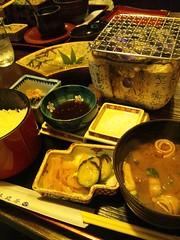 飛騨牛炭火焼き膳の写真