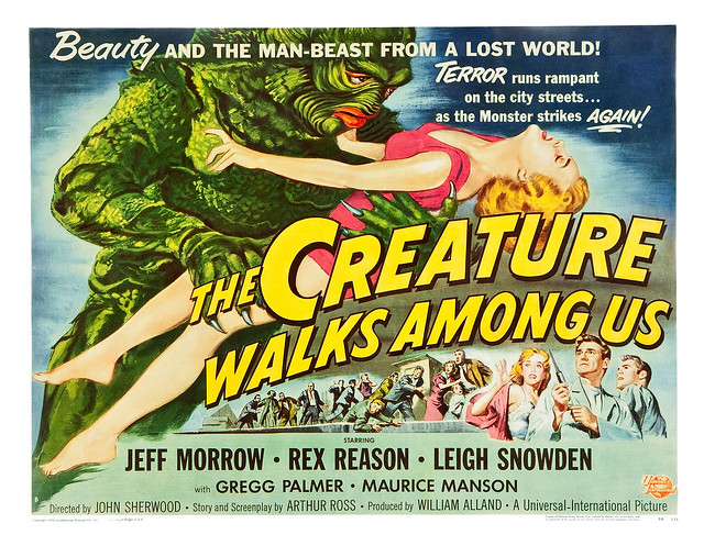 Reynold Brown - The Creature Walks Among Us (Universal International, 1956) half sheet