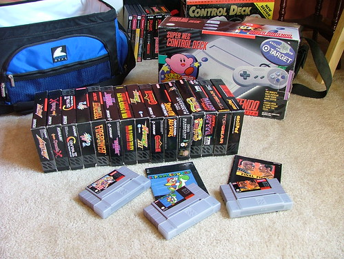 SNES Compact and games