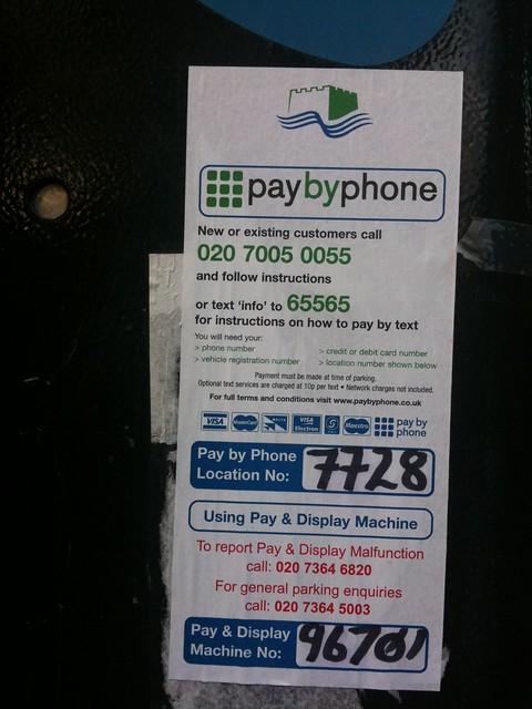 Parking meter - Tower Hamlets