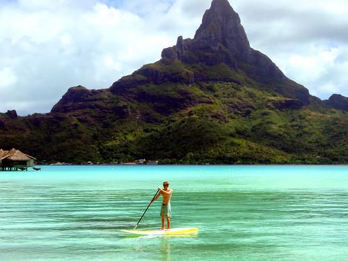 Jay standup in Bora Bora