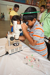 Brookhaven Summer Sunday (DaveMosher) Tags: kids children science siblings longisland microscope brookhavennationallaboratory