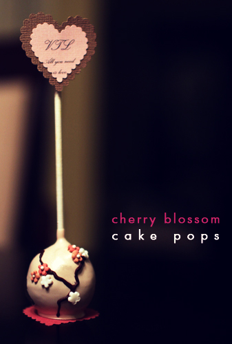I Heart Yummy Cherry Blossom Cake Pops