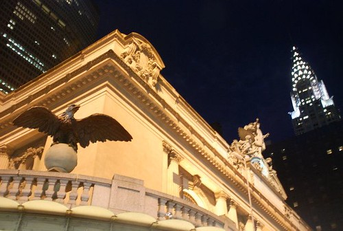 Grand central terminal and the Chrysler building