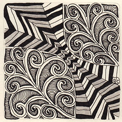 Weekly Challenge 41 (Amaryllis Creations) Tags: penink zentangle