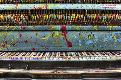 A Symphony In Color And Sound (DetroitDerek Photography ( ALL RIGHTS RESERVED )) Tags: music usa art america keys october midwest play outdoor song michigan detroit exhibit organ symphony hdr allrightsreserved motown heidelbergproject 2011 tyreeguyton 3exp aeolianskinner metrostyle themodist