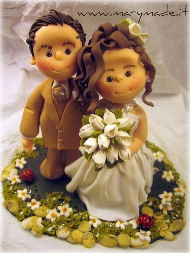 Barbara ed Alessandro, il loro cake topper per matrimonio