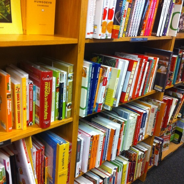 At schuler books and where do I go? The cookbooks.