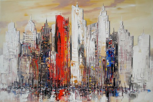 New York - Skyline art - Painting - Modern Impressionism