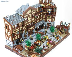 The Market District (Sirens-Of-Titan) Tags: house castle town pub lego market fantasy tavern merchant
