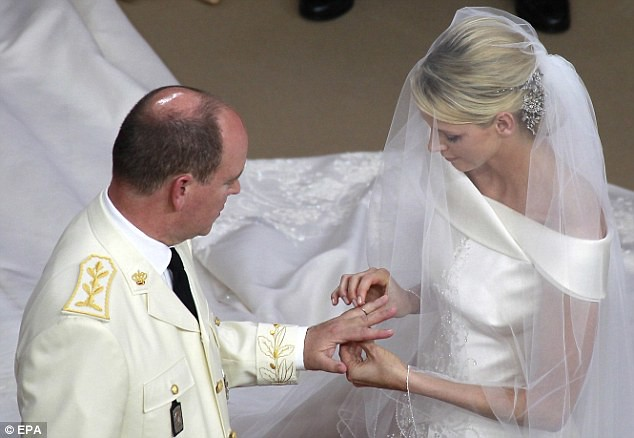 The Princess bride  Monaco  Charlene and Prince Albert ceremony The Princess bride  Monaco  Charlene and Prince Albert ceremony  3