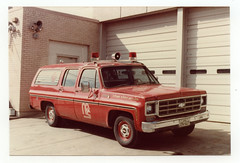 McKinney, Texas Fire Dept.- 1970's Chevy Suburban/ ? body, BLS unit (Reserve). (Dr. Mo) Tags: chevrolet texas suburban ambulance emergency firefighter bls ems firedepartment mckinney procar drmo robertknowles