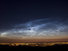 Noctilucent Clouds Over Glasgow