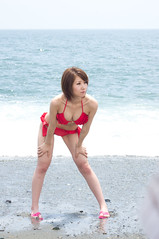 00982 (cosfit) Tags: ocean sea portrait people woman cute sexy beach girl beautiful beauty fashion japan lady asian japanese model asia pretty bikini swimsuit bathingsuit swimwear 20110703nisgp