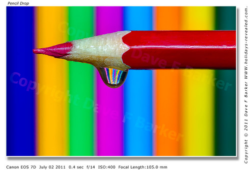 Coloured Pencil Water Droplet