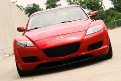 Mazda RX-8 Summer 11 1 (rzoops) Tags: 2005 red sport silver lexington low stx autocross mazda rx8 base lowered kw coilovers enkei scca hankook rpf1 255 17x9 rs3
