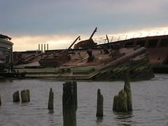Tilt (bk rabblerouser) Tags: newyorkcity abandoned boat decay statenisland barge arthurkill boatgraveyard