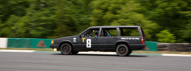 Cobra Kai race wagon on track