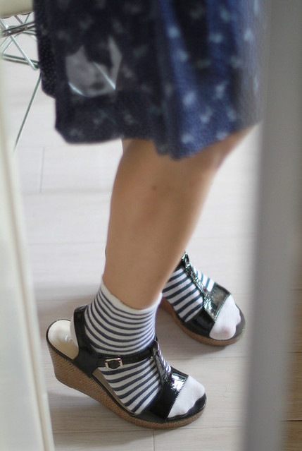 Stripey Socks & Wedges