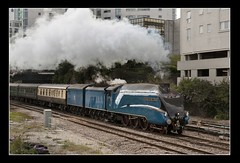 Departure (Capt' Gorgeous) Tags: sun rain wales train cardiff engine steam bittern mainline 4492 cathedralsexpress 60019 dominionofnewzealand