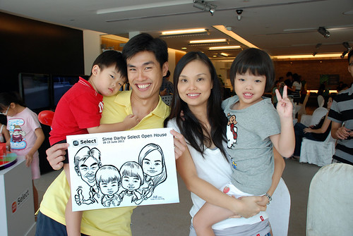 Caricature live sketching for Sime Darby Select Open House Day 2 - 13