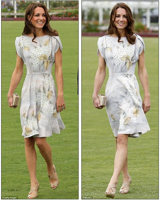 Kate Middleton keeps it simple in a fresh and floral dress as she and Prince William mingle with celebrities at charity polo match  7