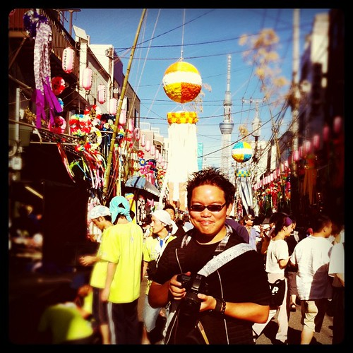 Me at the Tanabata Festival 七夕祭り