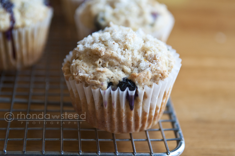 Banana Blueberry Lemon Muffins