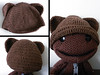 Baby Beanie with Bear Ears (Forever Yum) Tags: wool crochet yarn amigurumi sackboy