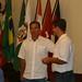 Silvio Pacheco - presidente do Rotary - e Roy
