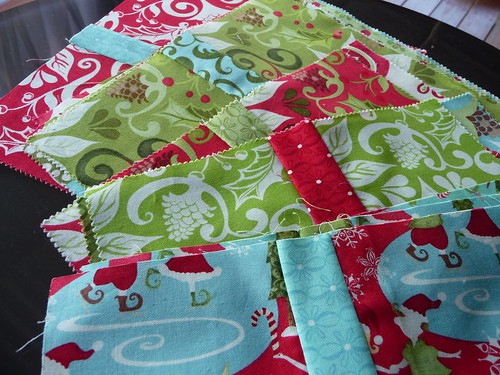 Layer cake cut  and sewn for quilt along