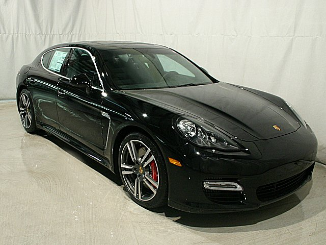 2012 Porsche Panamera Turbo S Black Black Full Leather