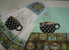 Conjunto Coffee Green (tania patchwork) Tags: coffee caf patchwork cozinha panodeprato batemo