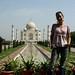 Mi e o Taj Mahal de fundo